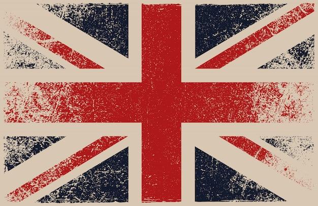 Flaga wielkiej brytanii nieczysty