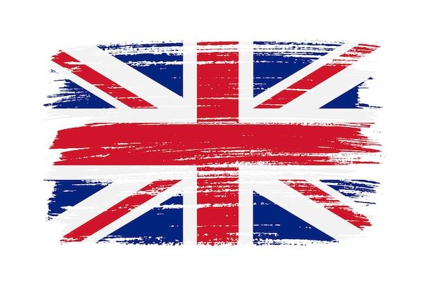 Flaga wielkiej brytanii obrysu pędzla