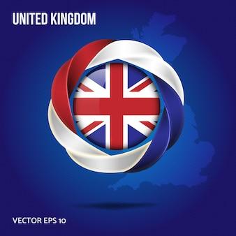 Flaga wielkiej brytanii pin