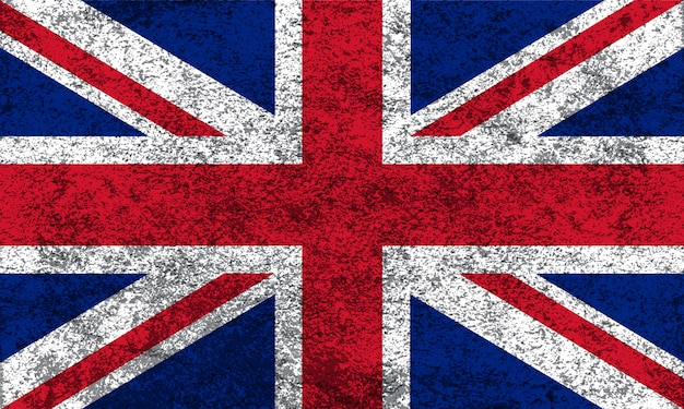 Flaga wielkiej brytanii w stylu grungy