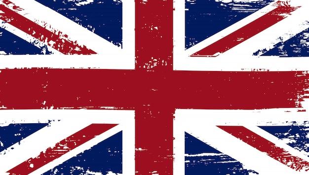Flaga wielkiej brytanii w trudnej sytuacji grunge