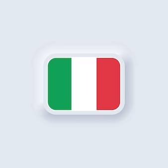 Flaga włoch. flaga narodowa włoch. włoski symbol neumorficzny ui ux