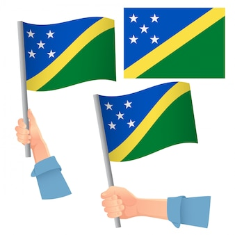 Flaga wysp salomona w zestawie ręcznym