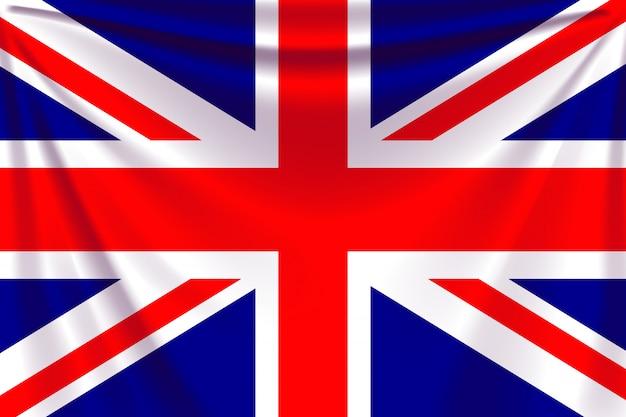 Flaga z powrotem uk