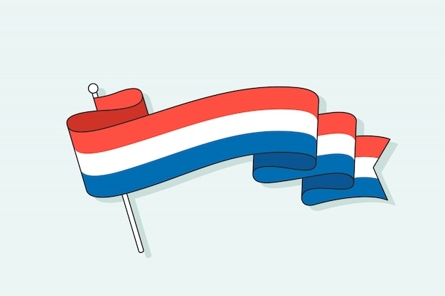 Flaga z trzema paskami