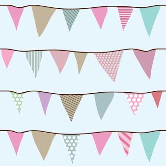 Flagi bezszwowe wektor wzór dla twoich projektów - papier pakowy, tekstylia, tapety