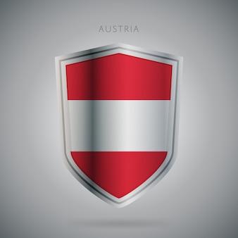 Flagi europy serii austria ikona.