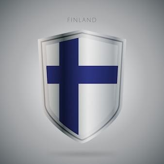 Flagi europy serii finlandia ikona.