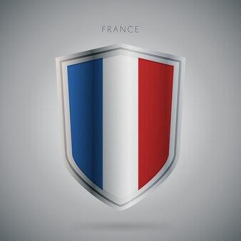 Flagi europy serii ikona francji.