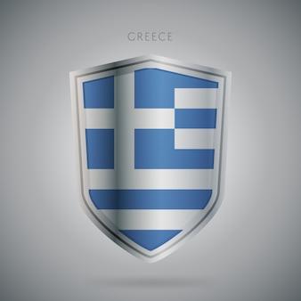 Flagi europy serii ikona grecji.