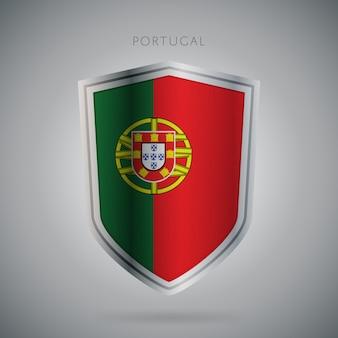 Flagi europy serii ikona portugalii