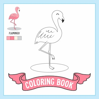 Flamingo animals coloring book pages