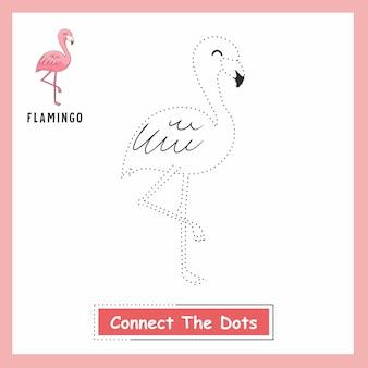 Flamingo połącz kropki