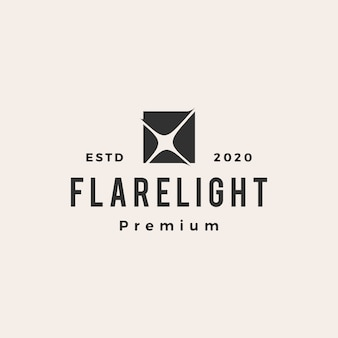 Flare light vintage logo ikona ilustracja