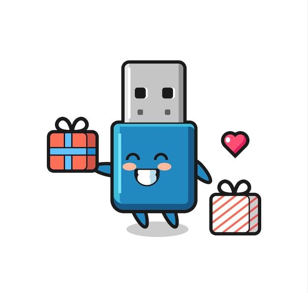 Flash drive usb maskotka kreskówka dając prezent, ładny styl na koszulkę, naklejkę, element logo