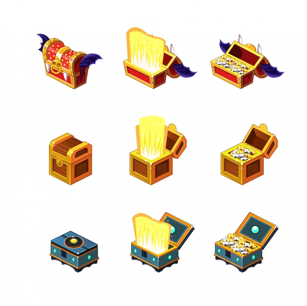 Flash game trasure chest collection