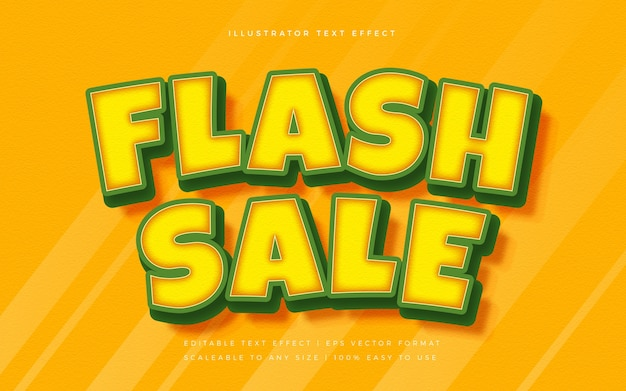 Flash sale efekt czcionki stylu wibrującego tekstu