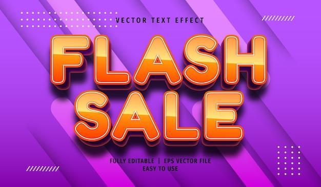 Flash sale efekt tekstowy, edytowalny styl tekstu