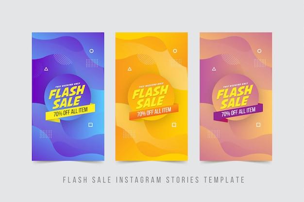 Flash story banner szablon story
