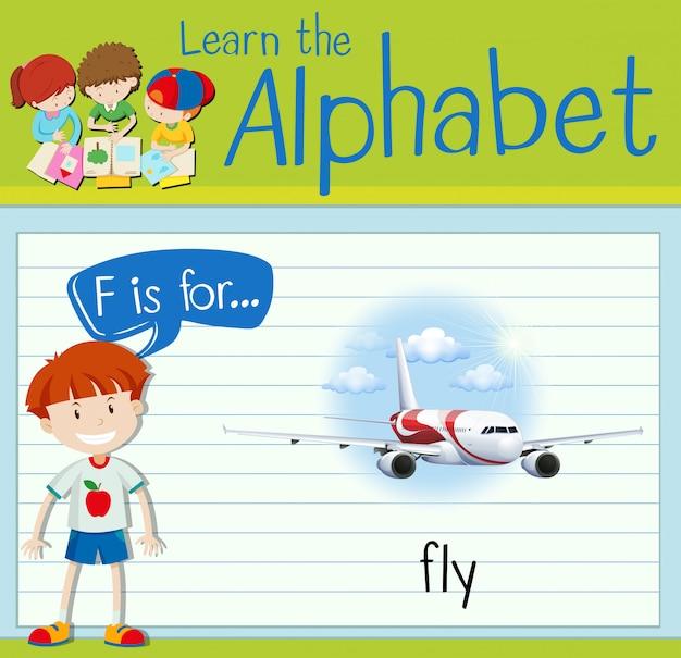 Flashcard litera f służy do latania