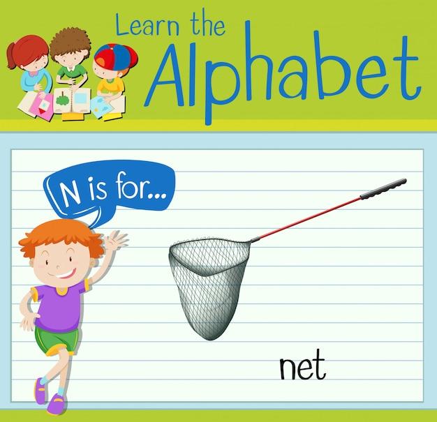 Flashcard litera n jest dla sieci