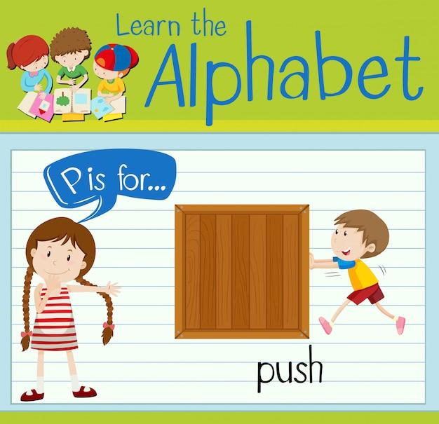 Flashcard litera p służy do pushowania