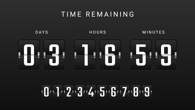 Flip countdown clock counter timer