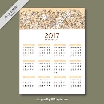 Floral 2017 kalendarza