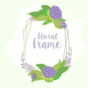 Floral frame na kartę ślubu