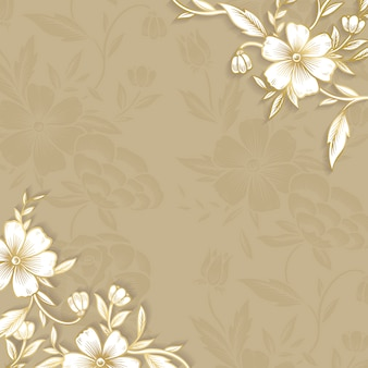 Floral granicy z miejsca na kopię