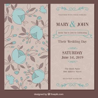 Floral karty ślub