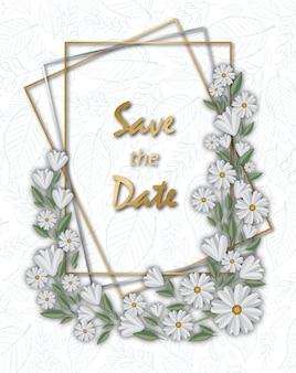 Floral seasons greetings card