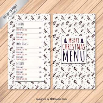 Floral święta menu