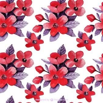 Floral tło w odcieniach czerwieni i fioletu