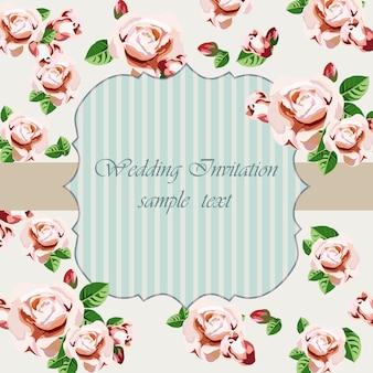 Floral zaproszenie ślubne wzór