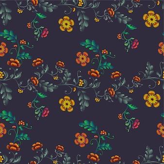 Flower design haft ilustracja wzór