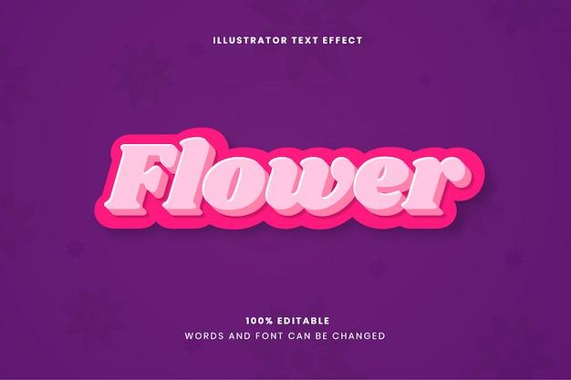Flower edytowalny efekt tekstowy