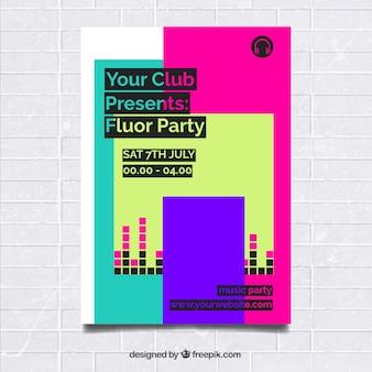 Fluor party plakat