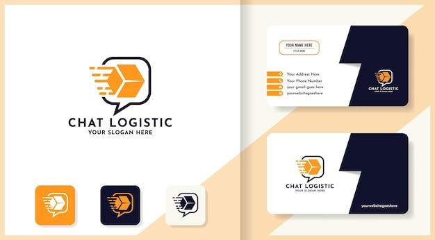 Fly box chat logo i projekt wizytówki