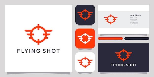 Flying shoot logo ikona symbol szablon logo i wizytówka