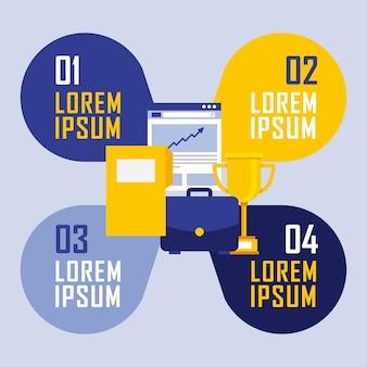 Folder dokument trofeum teczki infografika biznesu
