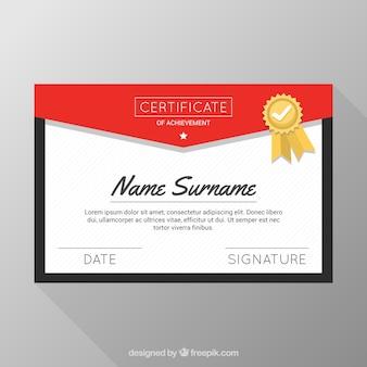 Folder dyplom i odznakę w kształcie