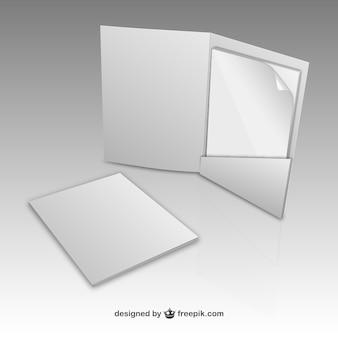 Folder papieru makiety