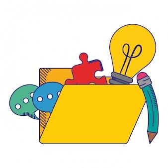 Folder z bąbelkami na czacie