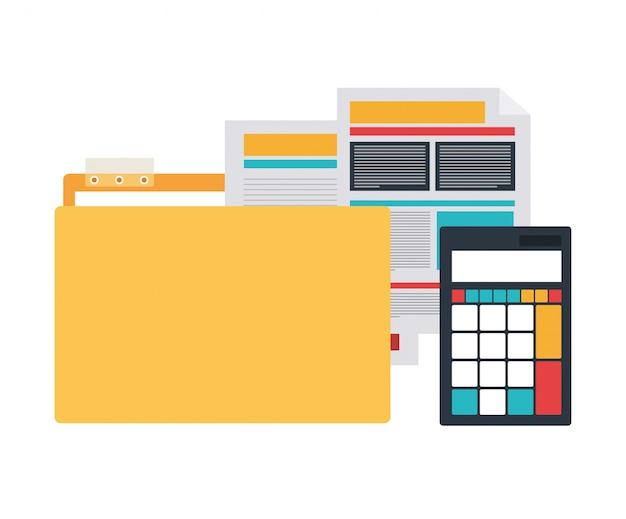 Folder z obiektami biurowymi