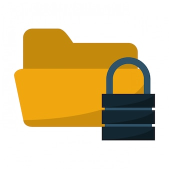 Folder z systemem zabezpieczeń na kłódkę