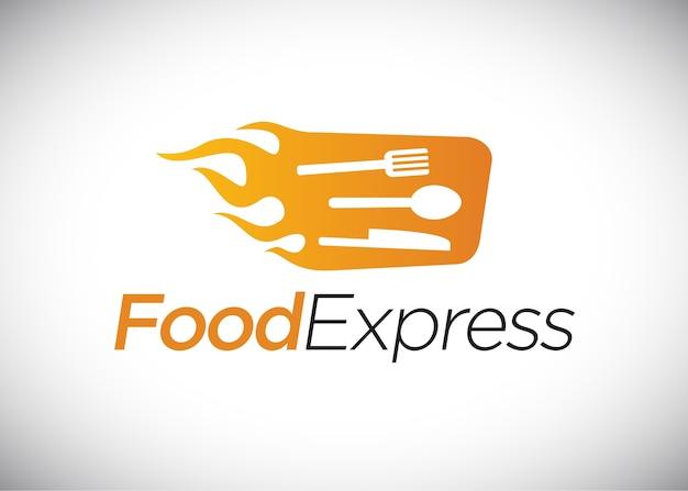 Food express logo, fast food.