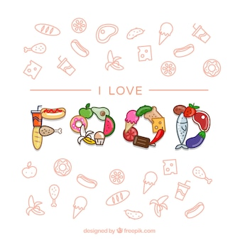 Food ikony kolekcji