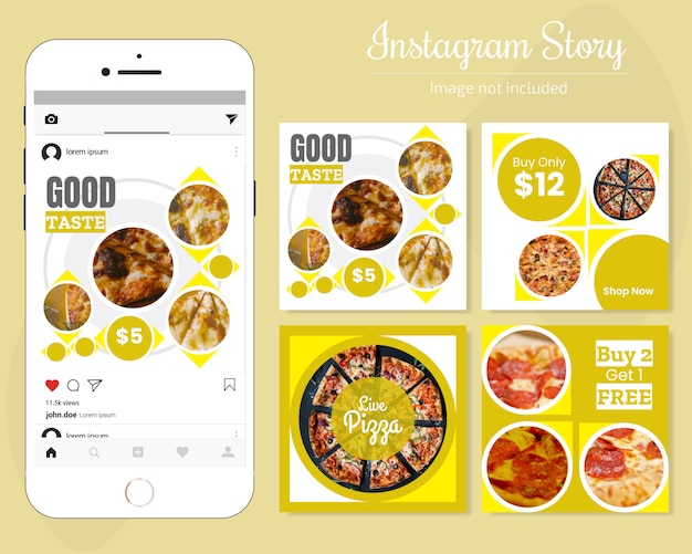 Food social media banner dla restauracji