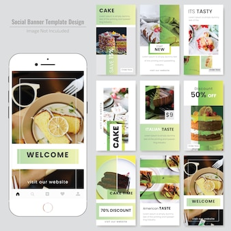 Food social media szablon dla restauracji